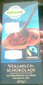 Chocolate with the Fair Trade logo